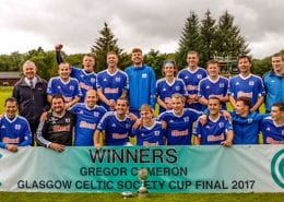 Kyles Athletic Glasgow Celtic Cup Winners 2017