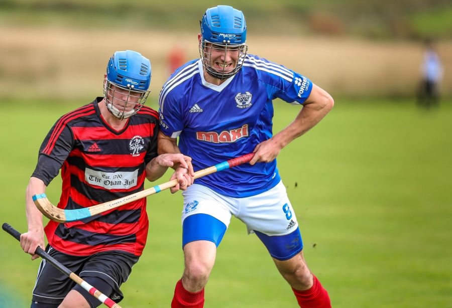 shinty players