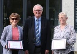 Kate Gerry Evelyn long service award